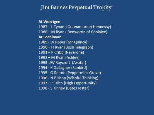 Jim Barnes Perpetual Trophy